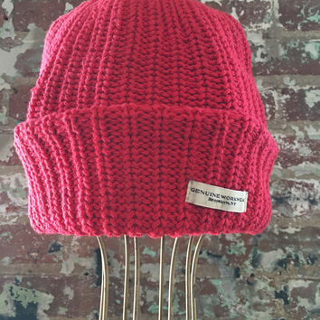 Genuine Workwear Knit Hat, Red
