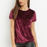 Velvet Pocket Top