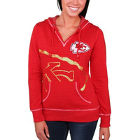 Kansas City Chiefs Majestic Women's Cross Block Pullover Hoodie - Red