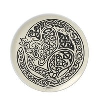 Celtic Cat Dreams Plate from Zazzle.com