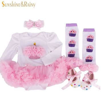2016 Newborn Clothing Baby Birthday Sets Baby Girl Clothes Romper Princess tutu Dress+