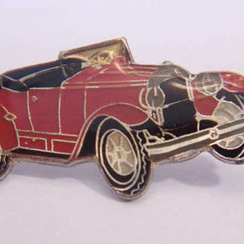 Antique Roadster Lapel Pin Vintage Car Unisex Jewelry Retro Cabriolet Fashion Accessories