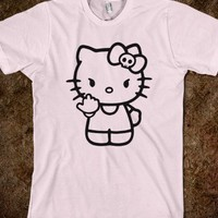 Hello Kitty Middle Finger - Shameless Behavior