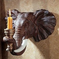 Elephant Candle Wall Sconce
