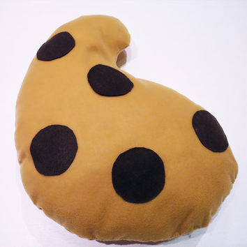 Chocolate Chips Drop Cookie Pillow, sofa, couch, nursery, gift, party pillows