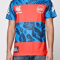 Young & Reckless Varsity Palms Soccer Jersey - Mens Tee - Red