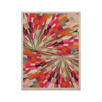 "Danny Ivan ""Convoke"" Multicolor Geometric KESS Naturals Canvas (Frame not Included)"