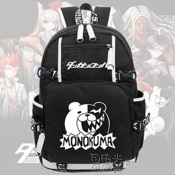 New Anime Danganronpa Backpack Cosplay monokuma Luminous Canvas Bag Schoolbag Dangan Ronpa Travel Bags