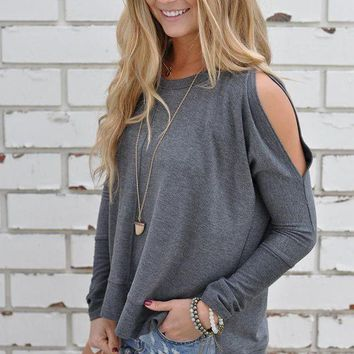 Loose Round Neck Strapless T Shirt