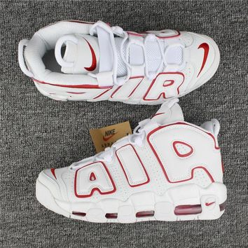 Nike Air More Uptempo White/Red Size 36----46