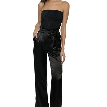 Suzette Ribbed Lurex Tube Top