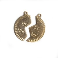 Solid Brass Best Friends Charm l Found - Olive