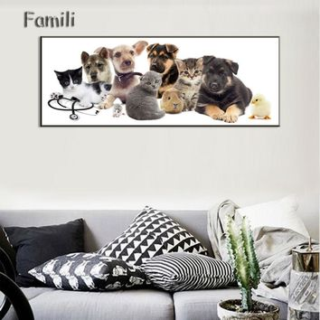 Animal Dog Art Canvas Poster Wall Painting Fashions Picture Modern Home Prints Kids Room Decor No Frame,carte Kawaii Pokemon go  AT_89_9