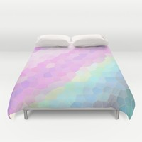 Pastel Illusions Duvet Cover by Lena Photo Art