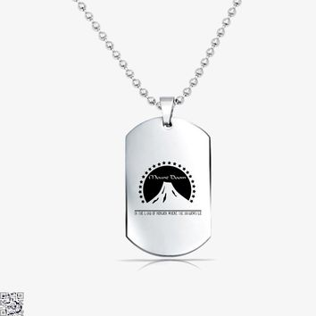 Mount Doom, Lord Of The Rings Tag Necklace