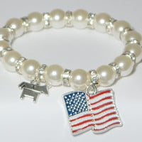 election bracelet - political campaign - bernie sanders 2016 - election 2016 - vote democratic - president election - handmade bracelet