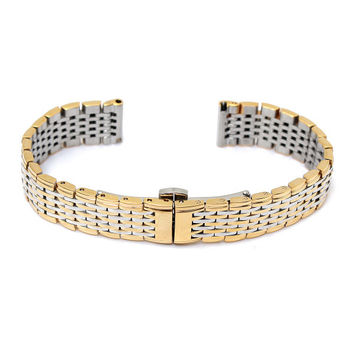 13mm Stainless Steel 9 Beads Double Buckle Watch Band