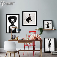 Cuadro Nordic Decoration Wall Art Canvas Painting Posters And Prints Black Girl Wall Pictures For Living Room No Poster Frame