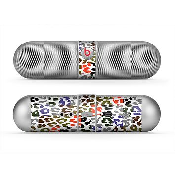 The Multicolored Leopard Vector Print Skin for the Beats by Dre Pill Bluetooth Speaker