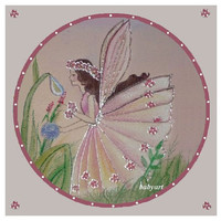 Fairies Nursery, Original Painting, fairy Artwork, girls room fairies, fairy decor, fairy art, Fairy room, custom size