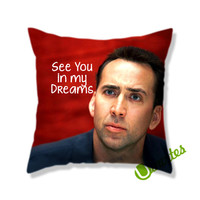 Nicholas Cage Square Pillow Cover