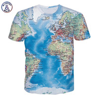 Mr.1991INC New Fashion Men's t-shirt 3d print Maps slim fit short sleeve brand clothing t shirt mens clothes summer tops tees