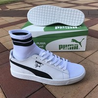 Puma Men's Clyde Sock NYC White/Black  Sneakers