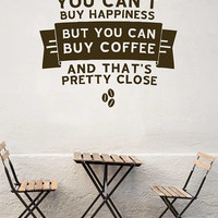 Coffee Store Wall Decal,  Coffee Quote, Inspirational Wall Decal, Coffee Cup Wall Sticker, Store Decor, Coffee Room Decor Store Decal  nm027
