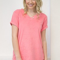 French Terry Top   Jadelynn Brooke   Coral
