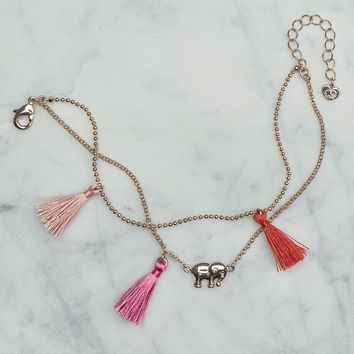 Rose Gold Tassel Anklet