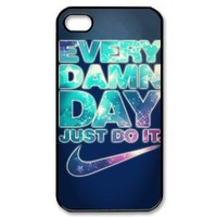Vcase-001 Special Customized JUST 3D Hard DO IT Printed Case Protector for iPhone 4,4s