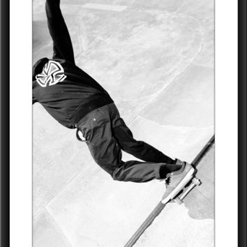 Skateboard Art Photography, Skater Photo, Boys or Girls Bedroom Decor, Sports Photograph, Extreme Sports, Black and White Sport Photo, Skate