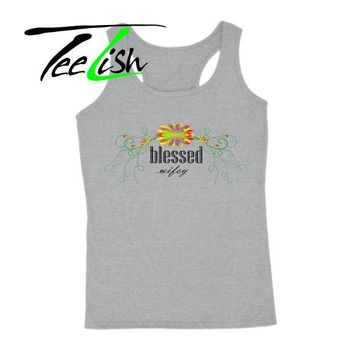 blessed wifey tank top