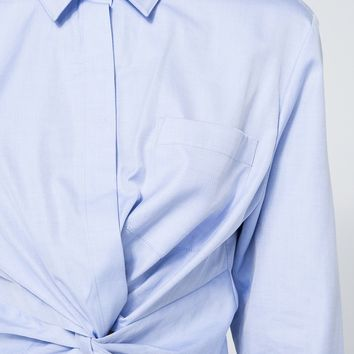 T by Alexander Wang / Twist Front Shirt in Chambray
