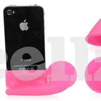 Silicone iPhone & iPod Classic Vehicle Horn Speaker Stand, Magenta - Accessories