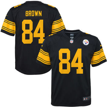 Youth Pittsburgh Steelers Antonio Brown Nike Black Team Color Game Jersey