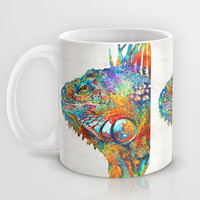 Colorful Iguana Art - One Cool Dude - Sharon Cummings Mug by Sharon Cummings