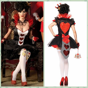 Heart Poker Queen Cosplay Anime Cosplay Apparel Holloween Costume [9211504708]