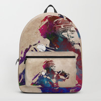 Baseball player 1 #baseball #sport Backpacks by jbjart