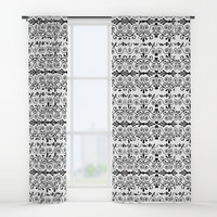 Curls And Hearts Window Curtains by gx9designs