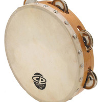 LP CP Wood Tambourine with Head 8""