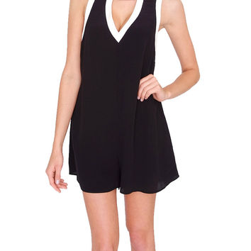 Republic Romper - Black/Ivory