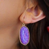 Out Of This Galaxy Earrings: Gold/Multi