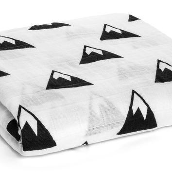 MODERN BURLAP ORGANIC COTTON MUSLIN SWADDLE - MOUNTAINS