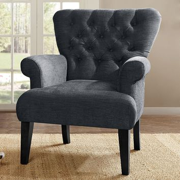 Madison Park Analia Button Tufted Classic Arm Chair