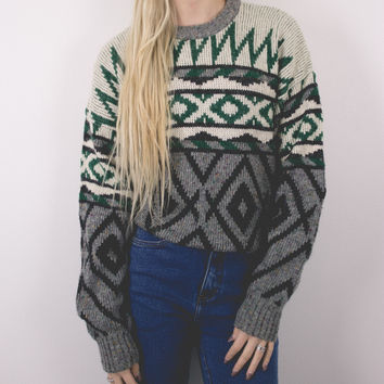 Vintage Marled Tribal Sweater