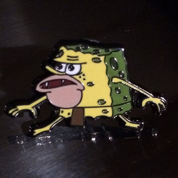 Cavebob Hat Pin - Primitive Spongebob Meme