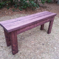 Farmhouse Style Rustic Wood Bench