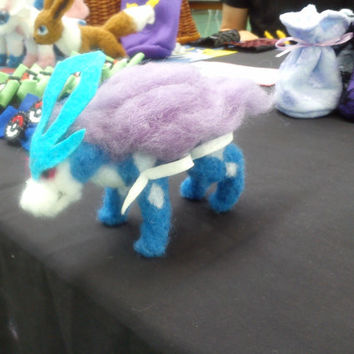 EXAMPLE Suicune/Ghibli Fox squirrel felt plushys
