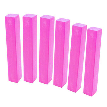HOT PINK | 6 Hot Barbie Pink Hair Chalks - temporary orchid pink hair dye for vibrant and vivid neon pink hair color
